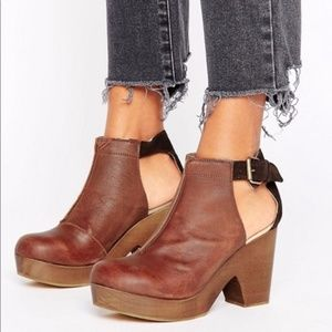 Free People Amber Orchard 41 Cut Out Clog Booties